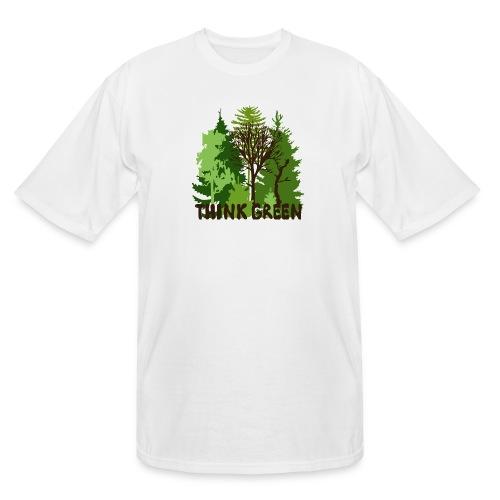 EARTHDAYCONTEST Earth Day Think Green forest trees - Men's Tall T-Shirt