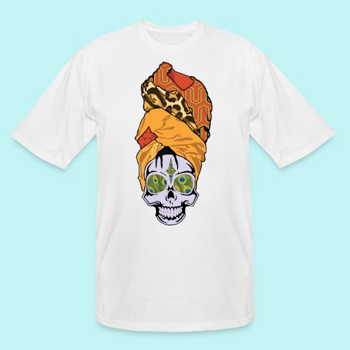 ERYKAH BADU SKULLY - Men's Tall T-Shirt