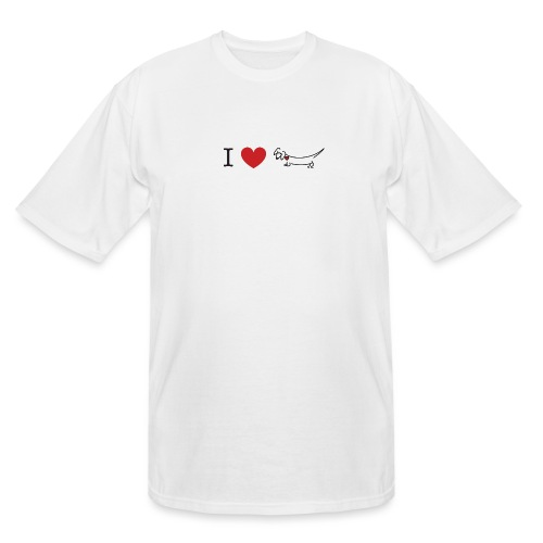 I love Dachshund - Men's Tall T-Shirt