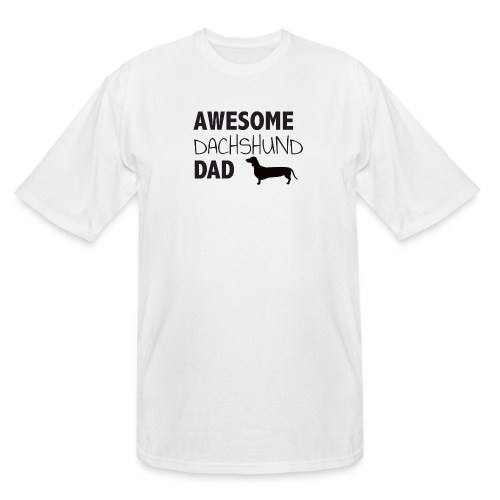 Awesome Dachshund Dad - Men's Tall T-Shirt