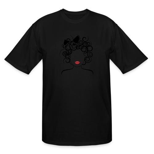 Global Couture logo_curly girl Women's T-Shirts - Men's Tall T-Shirt