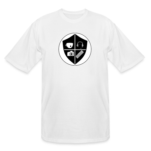 Punk Who Drinks Tea Crest - Men's Tall T-Shirt