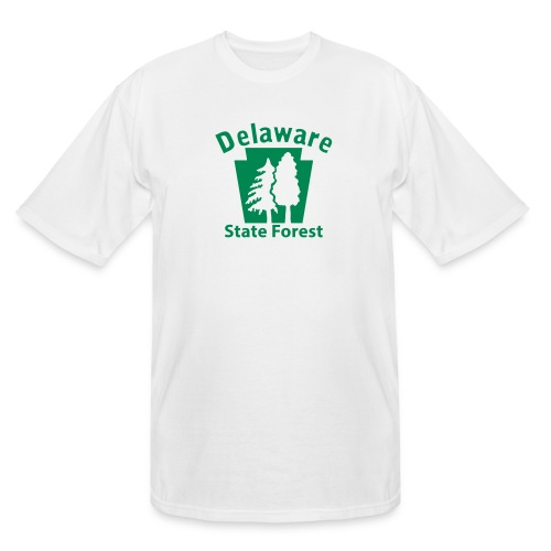 Delaware State Forest Keystone (w/trees) - Men's Tall T-Shirt