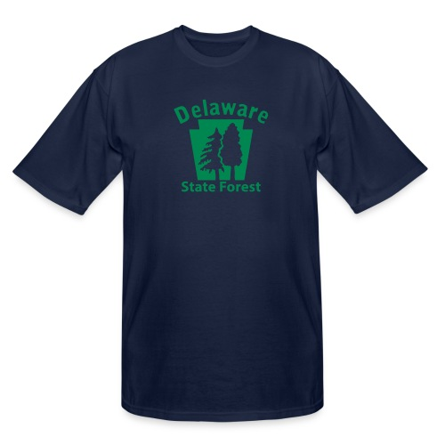 Delaware State Forest Keystone (w/trees) - Men's Tall T-Shirt