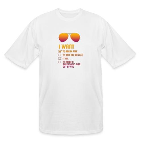 I Want To Break Free retro - Men's Tall T-Shirt