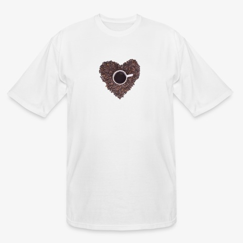 I Heart Coffee Black/White Mug - Men's Tall T-Shirt