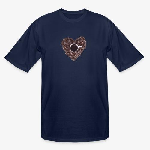 I Heart Coffee Black/White Mug - Men's Tall T-Shirt