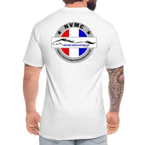 Circle logo t-shirt on silver/gray - Men's Tall T-Shirt
