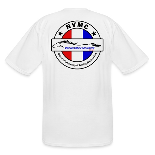 Circle logo t-shirt on white with black border - Men's Tall T-Shirt