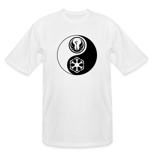 Star Wars SWTOR Yin Yang 1-Color Dark - Men's Tall T-Shirt