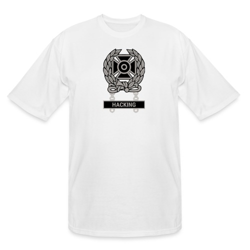 Expert Hacker Qualification Badge - Men's Tall T-Shirt