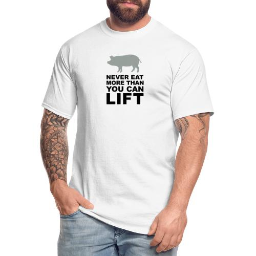 Never eat more than you can lift 2c (++) - Men's Tall T-Shirt