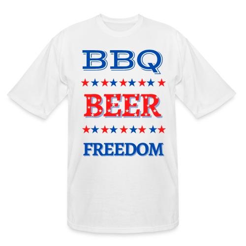 BBQ BEER FREEDOM - Men's Tall T-Shirt