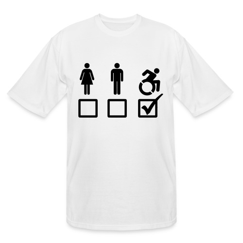 A wheelchair user is also suitable - Men's Tall T-Shirt