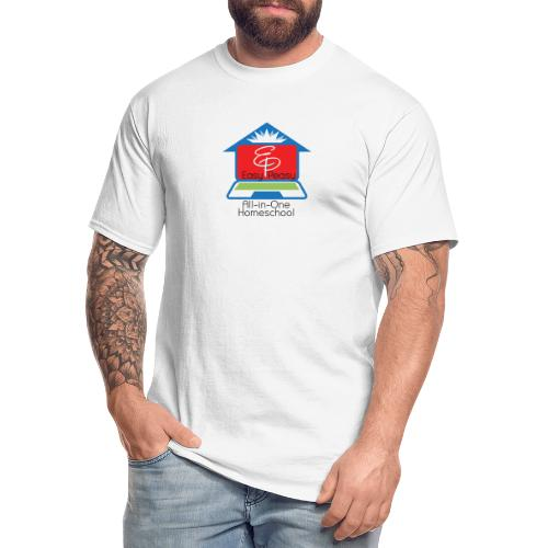 EP Logo with All-In-One Homeschool - Men's Tall T-Shirt