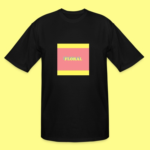 Floral ColorBlock - Men's Tall T-Shirt
