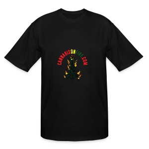 Cannabis On Fire T-Shirt 420 Cannabis Wear 2017 - Men's Tall T-Shirt
