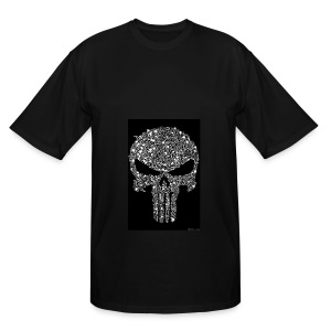 Skull wire theme - Men's Tall T-Shirt