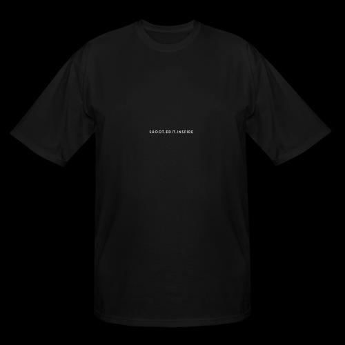 shoot edit inspire large - Men's Tall T-Shirt