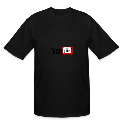 guntube larger logo - Men's Tall T-Shirt