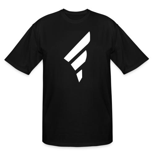 FraggedOutt White Logo T-Shirt - Men's Tall T-Shirt