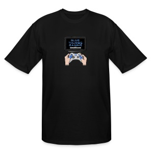 Blue Thumbs Gaming: Gamepad Logo - Men's Tall T-Shirt