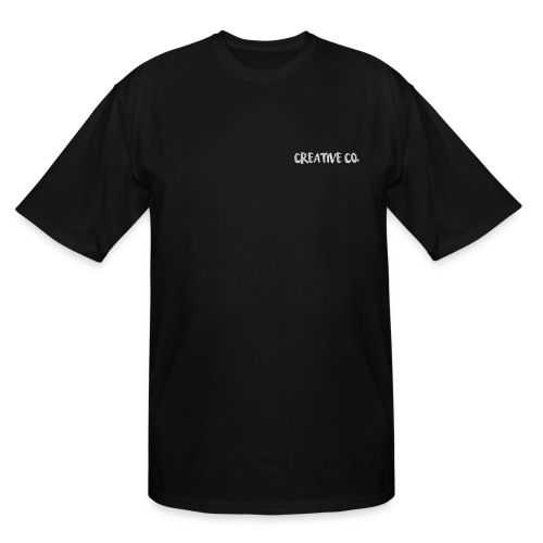 Creative Co Front Logo White - Men's Tall T-Shirt