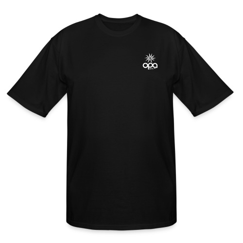 Short Sleeve T-Shirt with small all white OPA logo - Men's Tall T-Shirt