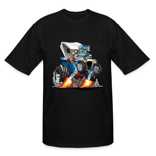 Custom T-bucket Roadster Hotrod Cartoon - Men's Tall T-Shirt