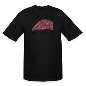 Red Tartan Hat - Men's Tall T-Shirt