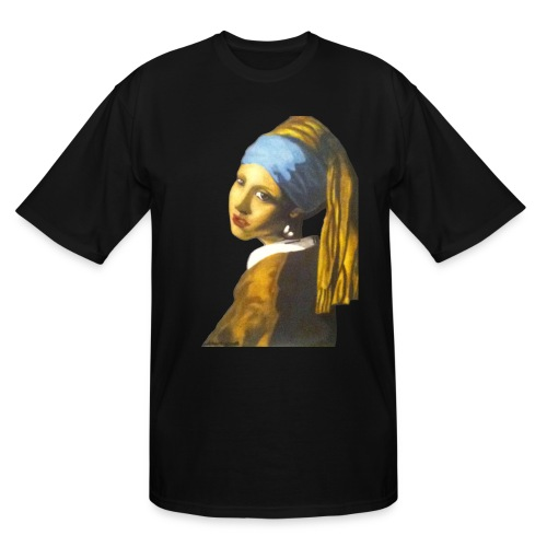 Girl with Pearl Earring - Men's Tall T-Shirt