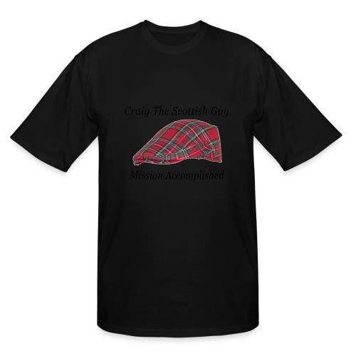 Red Tartan Hat - Men's Tall T-Shirt