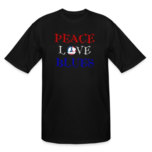 Peace, Love and Blues - Men's Tall T-Shirt