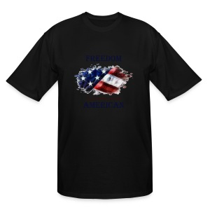 Freedom is just another word for American - Men's Tall T-Shirt
