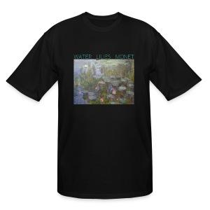 Water Lilies Monet tee - Men's Tall T-Shirt
