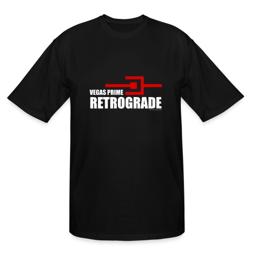 Vegas Prime Retrograde - Title and Hack Symbol - Men's Tall T-Shirt