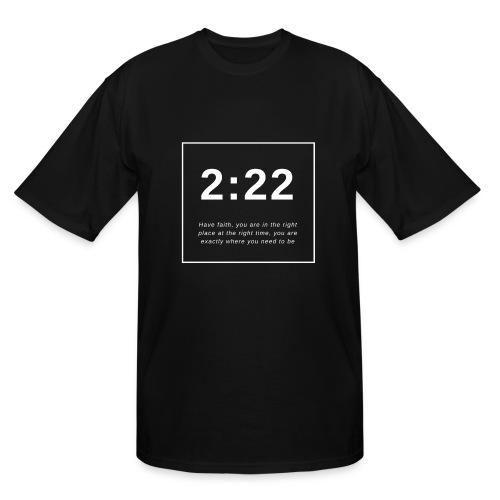 Angel Number 2:22 - Men's Tall T-Shirt
