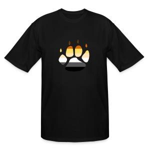 Bear PRIDE PAW - Men's Tall T-Shirt