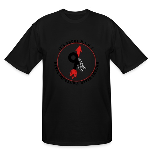 NINE Logo with Wings - Men's Tall T-Shirt