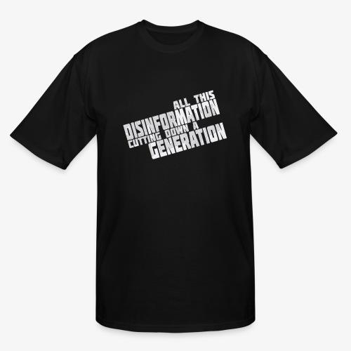 Disinformation - Men's Tall T-Shirt
