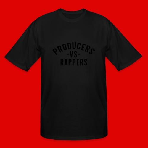 PRODUCERS -VS- RAPPERS (BLKWRDS) BY SHAWTYREDD - Men's Tall T-Shirt