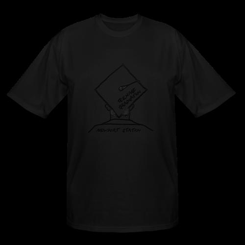 grad cap (etched in black) - Men's Tall T-Shirt