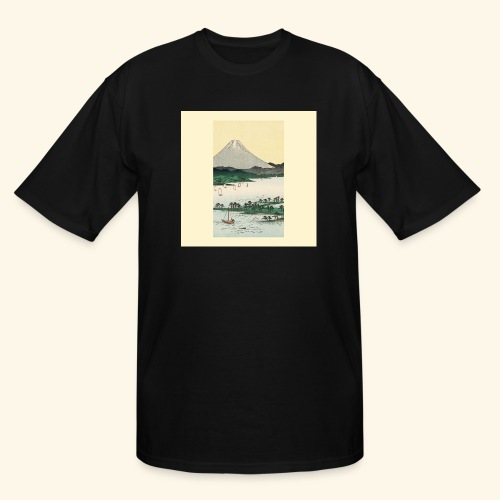 Mount Fuji from Suruga Bay Japan - Men's Tall T-Shirt