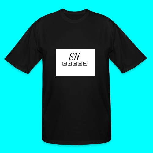 The Samantha Navio play button T-shirt - Men's Tall T-Shirt