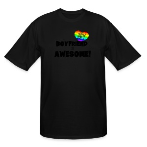 My BoyFriend is Awesome - Men's Tall T-Shirt