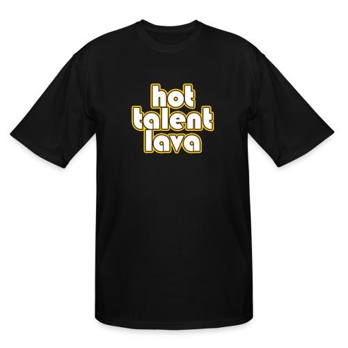 Hot Talent Lava - White Letters - Men's Tall T-Shirt