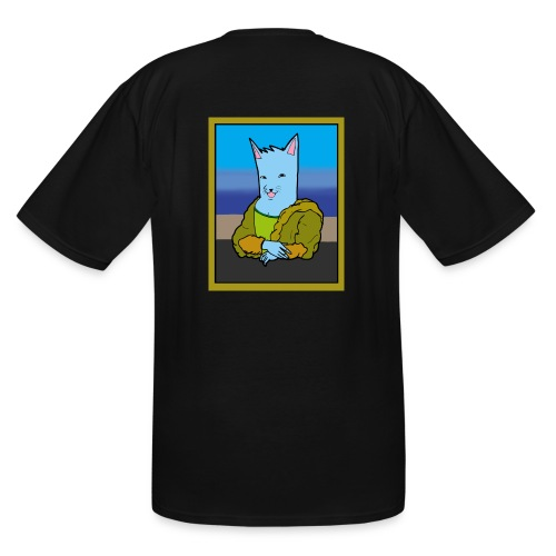 BLU the dog mona lisa tee - Men's Tall T-Shirt