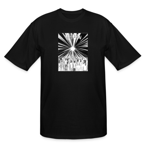 Black_and_White_Vision - Men's Tall T-Shirt