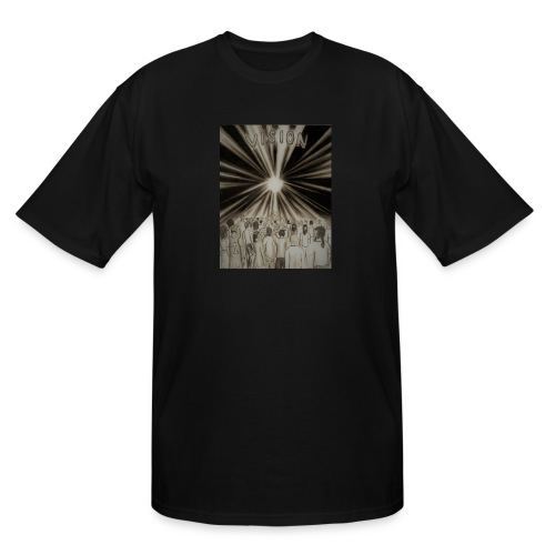 Black_and_White_Vision2 - Men's Tall T-Shirt