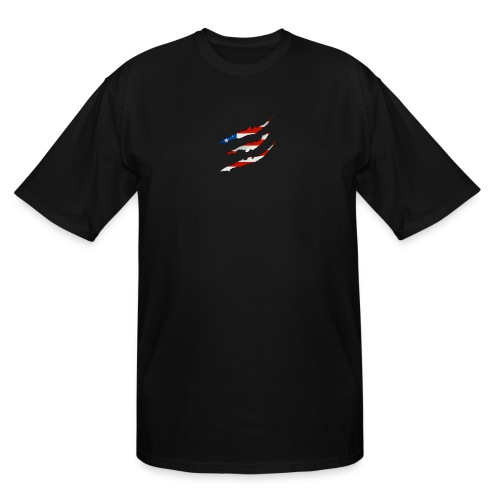 3D American Flag Claw Marks T-shirt for Men - Men's Tall T-Shirt